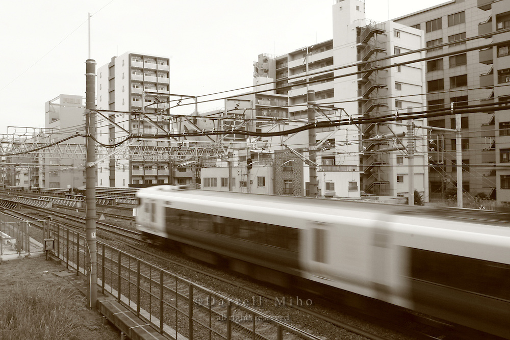 Mar 7, 2006; Tokyo, JPN; Ryogoku.Train just outside of the Ryogoku Station...Photo credit: Darrell Miho