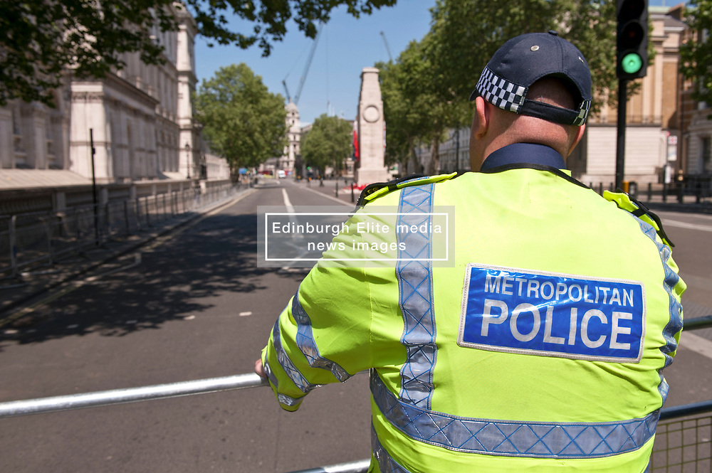 Whitehall was closed due to a security incident. Police closed the road around Downing Street as trained officers investigated.<br /> <br /> Richard Hancox   EEm 23052019