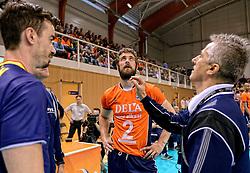 31-05-2015 NED: CEV EK Kwalificatie Nederland - Spanje, Doetinchem<br /> Nederland wint met 3-1 van Spanje en plaatst zich voor het EK in Bulgarije en Italie / Yannick van Harskamp #2