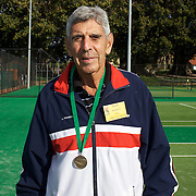 Anthony Franco, USA, Semi Finalist,  80 Mens Singles competition during the 2009 ITF Super-Seniors World Team and Individual Championships at Perth, Western Australia, between 2-15th November, 2009