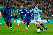 Ilkay Gundogan (8) of Manchester City on the attack during the Carabao Cup Final match between Chelsea and Manchester City at Wembley Stadium, London, England on 24 February 2019.
