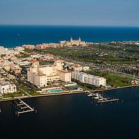 Flaglar Hotel in Palm Beach, Florida, located on the Intracoastal Waterway.
