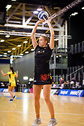 Magic's Monica Falkner warms up before the Magic Vs Pulse, ANZ Premiership, ILT Stadium, Invercargill, New Zealand.  Super Sunday, 5 May 2019.  © Copyright Photo:  Clare Toia-Bailey / www.photosport.nz