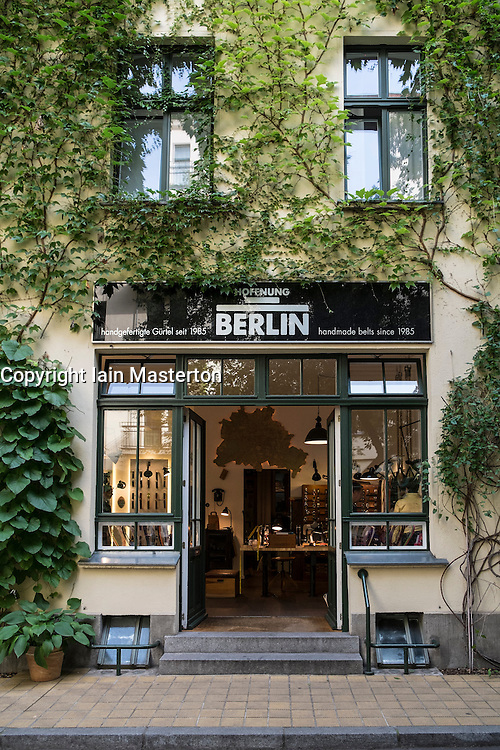 Atelier craft shop in Hackescher Markt courtyard in Berlin Germany