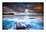 The last afternoon light on a stormy afternoon on Sydney&rsquo;s northern beaches [Avalon, NSW, Australia].<br />