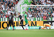 STOCKHOLM, SWEDEN - MAY 16: Soren Rieks of Malmo FF celebrates after scoring to 0-1 during the Allsvenskan match between Hammarby IF and Malmo FF at Tele2 Arena on May 16, 2018 in Stockholm, Sweden. Photo by Nils Petter Nilsson/Ombrello ***BETALBILD***