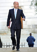 © Licensed to London News Pictures. 18/09/2012. Westinster, UK Foreign Secretary William Hague. Cabinet meeting today in Downing Street 18 September 2012. Photo credit : Stephen Simpson/LNP