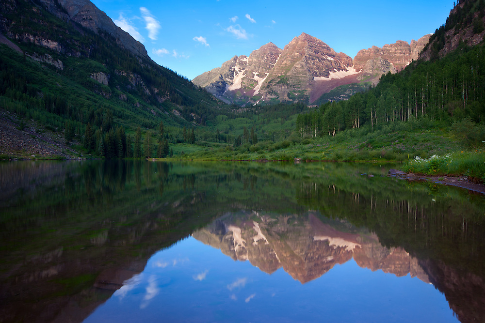 Maroon Bells reflections at Rocky Mountain National Park, Colorado