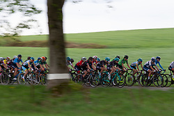 The peloton ups the pace on Stage 1 of the Festival Elsy Jacobs - a 97.7 km road race, starting and finishing in Steinfort on April 28, 2018, in Luxembourg. (Photo by Balint Hamvas/Velofocus.com)