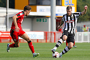 Notts County midfielder Michael O'Connor (8) takes it away from Crawley Town defender Alex Davey (5) during the EFL Sky Bet League 2 match between Crawley Town and Notts County at the Checkatrade.com Stadium, Crawley, England on 27 August 2016. Photo by Andy Walter.