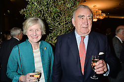 MICHAEL MATES and his wife CHRISTINE MATES at a party to celebrate the publication of Thenford: The Creation of an English Garden by Michael & Anne Heseltine held at The Grosvenor House Hotel, Park Lane, London on 24th October 2016.