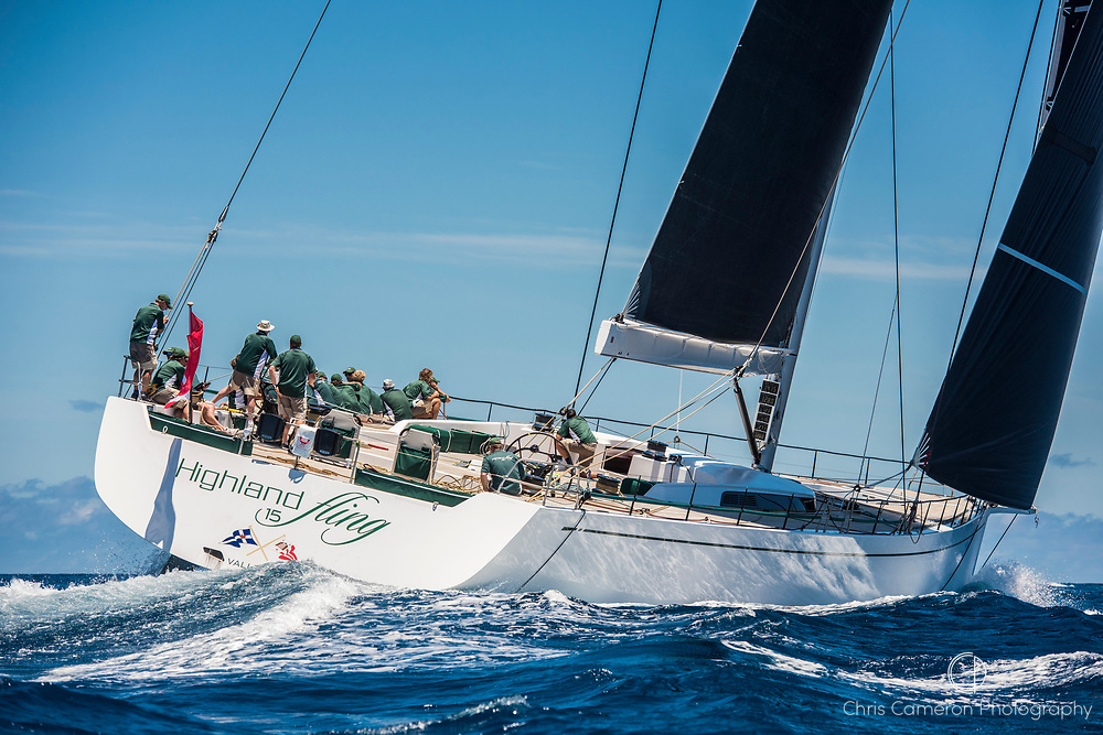 Bermuda, 14th June 2017. America's Cup Superyacht regatta. Race two. Highland Fling.2