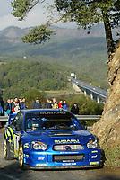 RALLY, 24.10.03,  WRC 2003 - RALLYE CATALUNYA - LLORET DEL,<br />PETTER SOLBERG (NORWAY) / SUBARU IMPREZA WRC  PHOTO: FRANCOIS BAUDIN /DIGITALSPORT