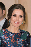 Queen Letizia & Prince Charles Attend Sorolla Opening