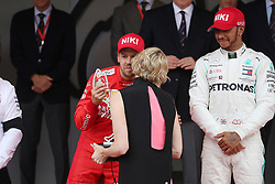 May 26, 2019 - Monte Carlo, Monaco - xa9; Photo4 / LaPresse.26/05/2019 Monte Carlo, Monaco.Sport .Grand Prix Formula One Monaco 2019.In the pic:  podium:.S.A.S La Princesse Charlene De Monaco and .2nd position Sebastian Vettel (GER) Scuderia Ferrari SF90 .3rd position Valtteri Bottas (FIN) Mercedes AMG F1 W10 (Credit Image: © Photo4/Lapresse via ZUMA Press)