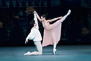 Russian Ballet Icons Gala 2015 <br /> at the Coliseum, London, Great Britain <br /> 8th March 2015 <br /> rehearsals <br /> <br /> Federico Bonelli &amp; Roberta Marquez in Romeo &amp; Juliet <br /> <br /> <br /> <br /> <br /> Photograph by Elliott Franks <br /> Image licensed to Elliott Franks Photography Services