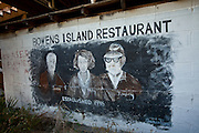 Customer graffiti on the walls at Bowen's Island restaurant along the Folly River, Charleston, SC.