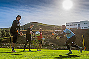 ESTEPONA - 05-01-2016, AZ in Spanje 5 januari, AZ keeper Sergio Rochet, AZ keeper Nick Olij, `nick van Aart, AZ speler Gino Coutinho