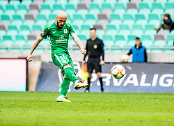 Brkic Goran of NK Olimpija Ljubljana during football match between NK Olimpija Ljubljana and NK Rudar Velenje in 25rd Round of Prva liga Telekom Slovenije 2018/19, on April 7th, 2019 in Stadium Stozice, Slovenia Photo by Matic Ritonja / Sportida