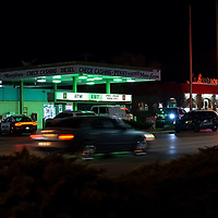 Gallup law enforcement secure the Penny Pinchers gas station for a suspect at large after an armed robbery occurred Tuesday evening in Gallup.