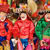 Decorative dolls for sale in Masaya. Masaya is close to Granada in Nicaragua. Masaya is famous for its art markets where it sells crafts from the surrounding region. It is also a major regional transport hub.