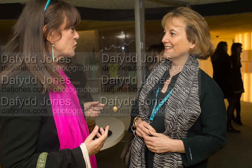 GAIL REBUCK; LUCY HELLER, Launch of ' More Human',  Designing a World Where People Come First' by Steve Hilton. Party held at Second Home in Princelet St, off Brick Lane, London. 19 May 2015.