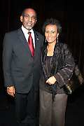 Ethopian Ambassador to the U.S. Mr. & Mrs. Fessha Tessema at The Abyssinian Baptist Church Official Kick-Off The Abyssinian Fund Benefit held at the Harlem Gate House on December 5, 2009 in Harlem, New York City..The Abyssinian Fund is committed to reducing poverty in Ethiopia by working with partner organizations, farming cooperatives and community residents to improve healthcare, education and access to clean water.