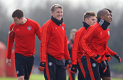 MANCHESTER, ENGLAND - Wednesday, March 16, 2016: Manchester United's Bastian Schweinsteiger during a training session at Carrington Training Ground ahead of the UEFA Europa League Round of 16 2nd Leg match against Liverpool. (Pic by David Rawcliffe/Propaganda)