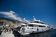 May 20-24, 2015: Monaco Grand Prix - Yacht in the Monaco harbor.