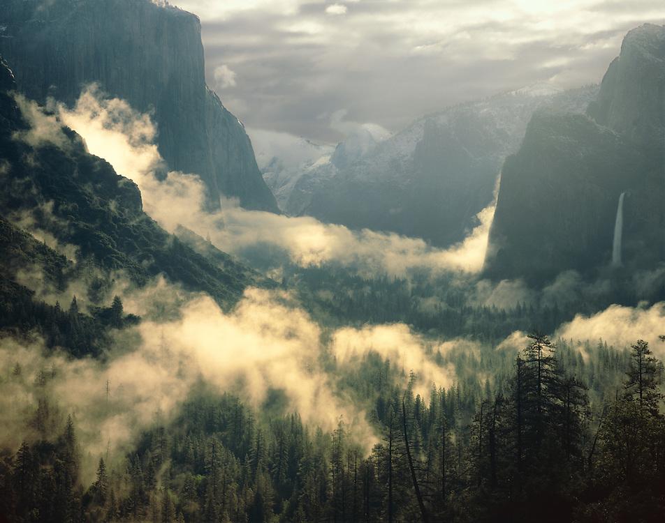 Spring storm, Yosemite Valley, Yosemite National Park,  California