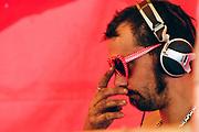 closeup of DJ, Falougha, Lebanon, 2010