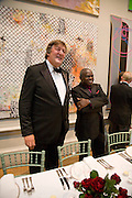 STEPHEN FRY AND THE ARCHBISHOP OF YORK, 240th Royal Academy Summer Exhibition. Annual dinner. Piccadilly. London. 3 June 2008.  *** Local Caption *** -DO NOT ARCHIVE-© Copyright Photograph by Dafydd Jones. 248 Clapham Rd. London SW9 0PZ. Tel 0207 820 0771. www.dafjones.com.