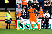 Dundee midfielder Scott?Allan (#10) defends the ball against Dundee United defender Lewis Toshney (#6) during the Betfred Scottish Cup group stage match between Dundee and Dundee United at Dens Park, Dundee, Scotland on 29 July 2017. Photo by Craig Doyle.