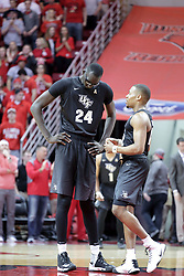 20 March 2017:  Tacko Fall and Matt Williams during a College NIT (National Invitational Tournament) 2nd round mens basketball game between the UCF (University of Central Florida) Knights and Illinois State Redbirds in  Redbird Arena, Normal IL