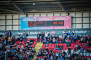 Scoreboard displaying the final result during the EFL Sky Bet League 1 match between Rotherham United and Bolton Wanderers at the AESSEAL New York Stadium, Rotherham, England on 14 September 2019.