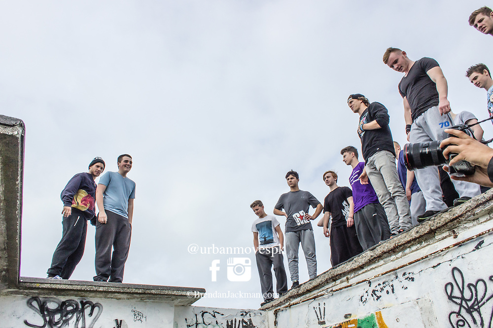 FROM HERE TO THERE - Freerunning Jam and documentary screening, Dublin, Ireland hosted by Jesse La Flair and Pasha Petkuns. From Here To There jam photo shoot Dublin, Ireland with Jesse LaFlair and Pacha Petkuns. #GoingOTE #FH2Tdoc