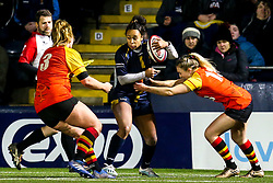 Jade Shekells of Worcester Warriors Women is tackled - Mandatory by-line: Robbie Stephenson/JMP - 11/01/2020 - RUGBY - Sixways Stadium - Worcester, England - Worcester Warriors Women v Richmond Women - Tyrrells Premier 15s