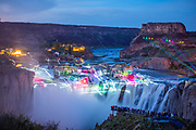 Twin Falls Laser and Lights Show at Shoshone Falls presented by Southern Idaho Tourism and Jayco.