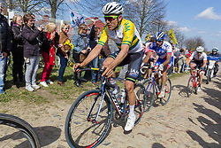 Heinrich Haussler (AUS) of IAM Cycling, Section 10, Mons-en-Pevele, Paris-Roubaix, UCI WorldTour, France, 12 April 2015, Photo by Thomas van Bracht / PelotonPhotos.com