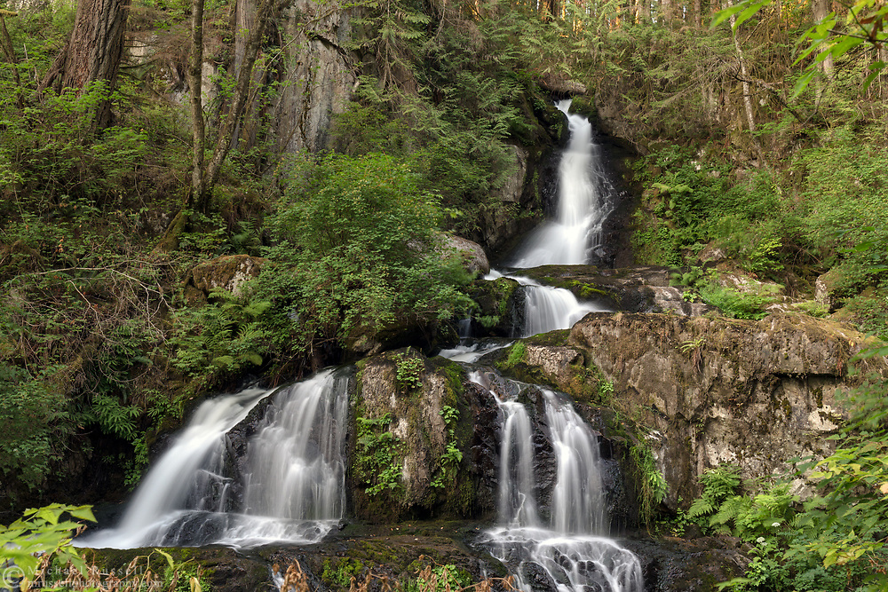 The upper portion of Steelhead Falls near the Reservoir Trail in the Hayward Lake Recreational Area in Mission, British Columbia, Canada