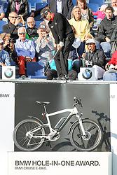 23.06.2015, Golfclub M&uuml;nchen Eichenried, Muenchen, GER, BMW International Golf Open, Show Event, im Bild Camilo Villegas (COL) schlaegt beim Show Event von der Tribuene ab // during the Show Event of BMW International Golf Open at the Golfclub M&uuml;nchen Eichenried in Muenchen, Germany on 2015/06/23. EXPA Pictures &copy; 2015, PhotoCredit: EXPA/ Eibner-Pressefoto/ Kolbert<br /> <br /> *****ATTENTION - OUT of GER*****