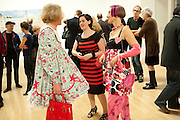 GRAYSON PERRY,; JACKY KLEIN; SILVIA ZIRANEK;  Private view for the Turner prize exhibition. Tate Britain. London. 4 October 2010. -DO NOT ARCHIVE-© Copyright Photograph by Dafydd Jones. 248 Clapham Rd. London SW9 0PZ. Tel 0207 820 0771. www.dafjones.com.