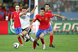 07.07.2010, Moses Mabhida Stadium, Durban, SOUTH AFRICA, Deutschland ( GER ) vs Spanien ( ESP ) im Bild Piotr Trochowski of Germany and Sergio Busquets of Spain.Foto ©  nph /  Kokenge / SPORTIDA PHOTO AGENCY
