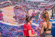 The Actionaid, #MyBodyIsMine... mirrored wall is a plce for women of all ages to share their views - The 2018 Latitude Festival, Henham Park. Suffolk 15 July 2018