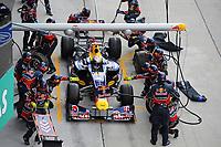 MOTORSPORT - F1 2011 - MALAYSIA GRAND PRIX - KUALA LUMPUR (MAL) - 07 TO 10/04/2011 - PHOTO : ERIC VARGIOLU / DPPI - <br /> VETTEL SEBASTIEN (GER) - RED BULL RENAULT RB7 - ACTION