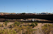 The wall at the Mexican border is modified by U.S. federal authorities near the Mariposa Port of Entry in Nogales, Arizona, as seen from Nogales, Sonora, Mexico.