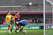 Bristol - Saturday November 7th, 2009: Grant Holt of Norwich City (back, partially obscured) scores the during the FA Cup 1st round match at Paulton. (Pic by Alex Broadway/Focus Images)..