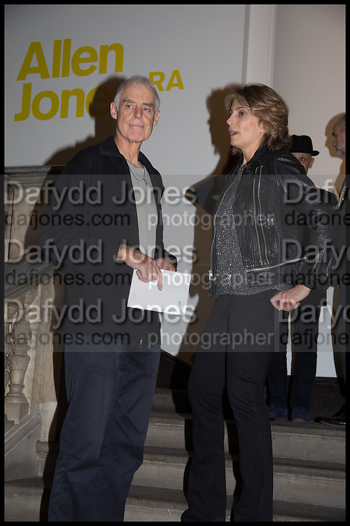RICHARD LONG; MARIANNE SACHS, Allen Jones private view. Royal Academy,  London. 11 November  2014.