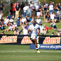 Makazole Mapimpi of the Cell C Sharks during the super rugby match between the Melbourne Rebels and the Cell C Sharks at the  Mars Stadium,Ballarat,Western suburbs of Melbourne,Victoria, Australia, 22,020,2020 (Photo Steve Haag /HollywoodBets)
