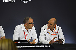 May 9, 2019 - Espagne - Stefano Domenicali and Bruno Michel in Press Conference for new F2 tyres (Credit Image: © Panoramic via ZUMA Press)